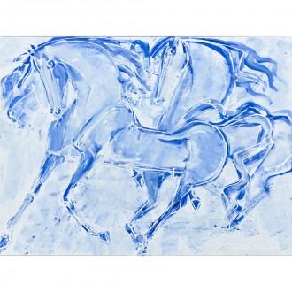 Cavalli, quadro su tela di Lorenzo Cascio