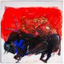 Toro, painting on canvas by Lorenzo Cascio