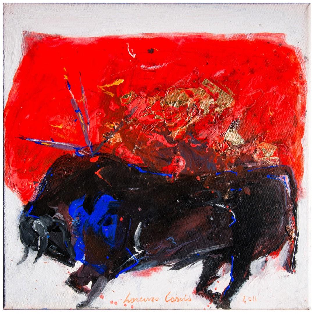 Toro, Dipinto su tela di Lorenzo Cascio