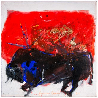 Toro, painting on canvas by Lorenzo Cascio