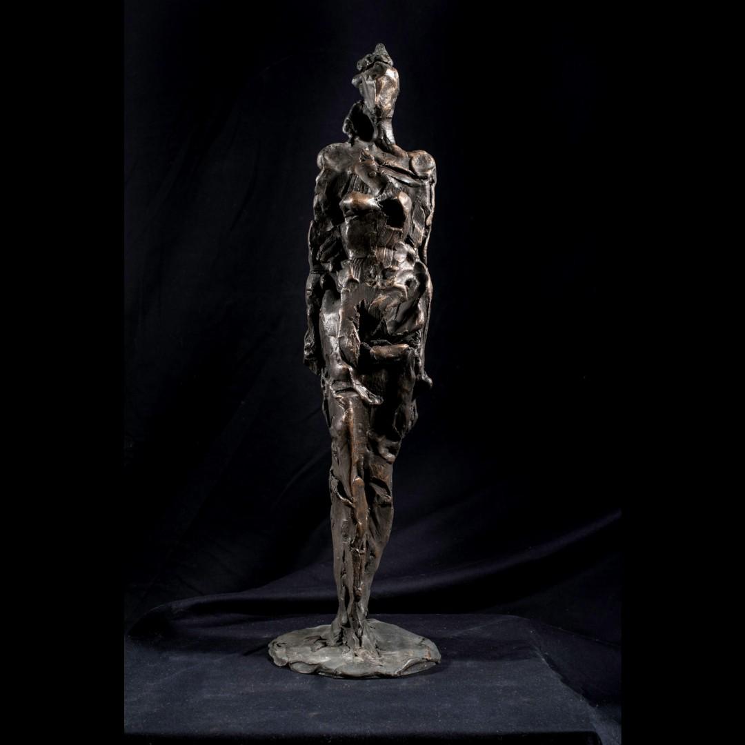 Figuretta, scultura in bronzo di Lorenzo Cascio