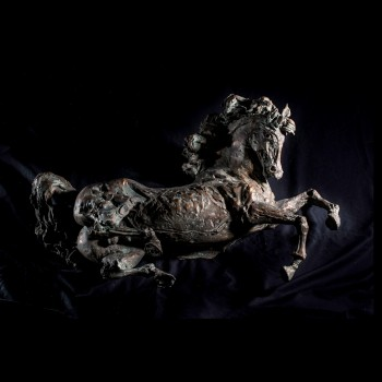 Stallone, scultura di Lorenzo Cascio