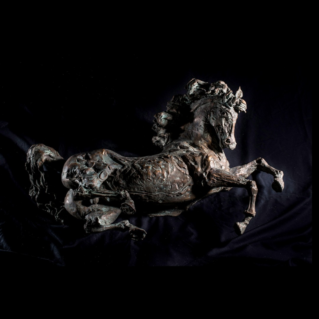 Stallone, sculpture by Lorenzo Cascio.