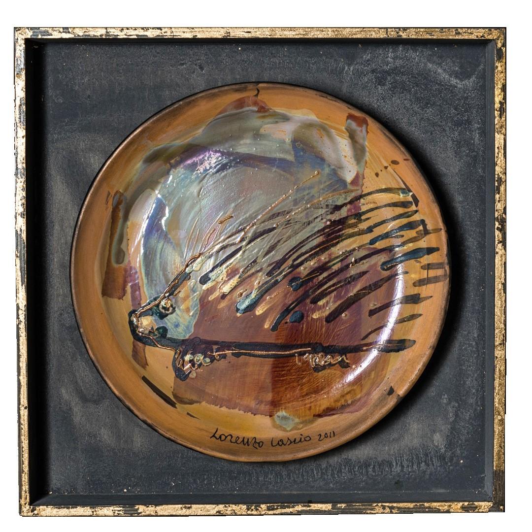 Ricco piatto in ceramica di Lorenzo Cascio